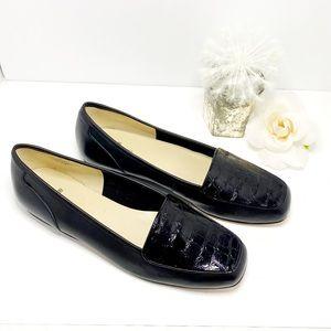Bandolino NWOT Black Snakeskin Loafers 9M